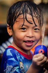 Boy, Songkran Water Festival, Chiang Mai, Thailand (Andrew Taylor Photography) Tags: boy people festival thailand celebration chiangmai subject festivity waterpistol watergun songkran supersoaker thainewyear pressurizedwatergun