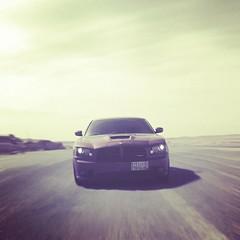 I'm coming at ya!! (AbuShaieg) Tags: road street car dodge hemi charger chasing srt srt8 infernored