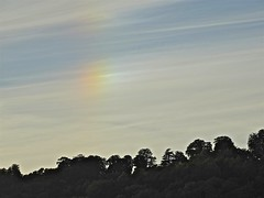 Mock Sun Icebow (Deepgreen2009) Tags: trees sky cloud sun ice weather rainbow colours surrey hills effect mock cirrus brockham phenomenon