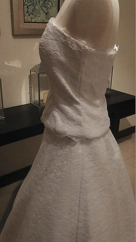 2 piece white wedding dress by Elsa Originals. For more pictures, go to: http://elsaoriginals.com/product/2-piece-lace-wedding-dress/
