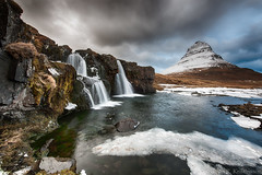 Kirkjufellsfoss - Revisited (Kristinn R.) Tags: winter sky mountain ice clouds river waterfall iceland nikon rocks kirkjufell d3x nikonphotography kirkjufellsfoss