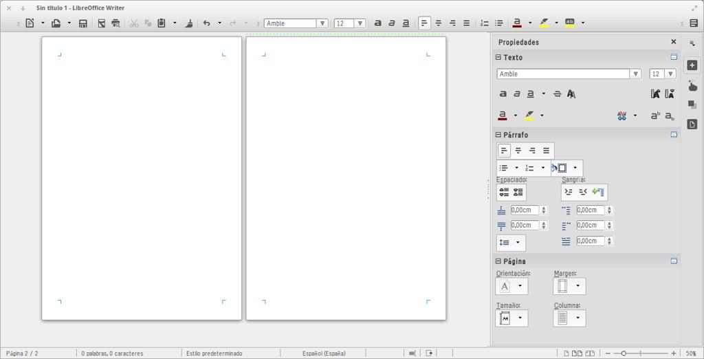 LibreOffice 4.1 en Elementary OS Mode