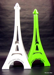Lime and White (mootzie) Tags: white green tower paper advertising french towers exhibition eifel cardboard aberdeen oil lime recycling