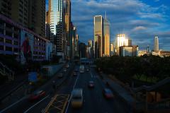 Morning Hongkong City (peerakit_popcity_5392) Tags: morning cars sunshine hongkong moving traffic bright