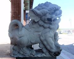 095 Stone Lion In Chinatown (saschmitz_earthlink_net) Tags: california statue losangeles walks chinatown hiking lion hike bigparade 2013 mashupwalk