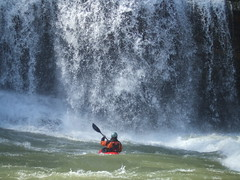 Challenge (spaceyjessie) Tags: man water waterfall kayak fuji paddle falls rapids fujifilm float z1