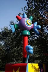 The chicken (dididumm) Tags: art chicken statue modern germany colorful huhn nrw dortmund bunt hhnchen westfalenpark