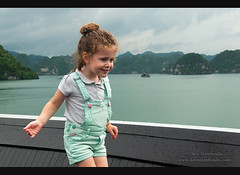 cute girl with curly hair aboard a cruise ship in Halong Bay, Vietnam (jitenshaman) Tags: travel cruise vacation white holiday cute tourism nature water girl beautiful asian bay boat junk asia european vietnamese sailing child traditional joy sightseeing unescoworldheritagesite unesco vietnam overalls limestone sail destination oriental orient karst curlyhair luxury halong halongbay chinesejunk caucasian mountainssea culry worldlocations