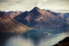 Lake Wakatipu, Queenstown (AchillesSHAN) Tags: trip travel light newzealand mountain lake holiday water landscape nikon images getty queenstown nikkor wakatipu f28 80200 nikond700