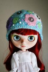 Pastel Delight (elifins) Tags: crochet helmet blythe aviator feltedwool lachicadellunar elifins