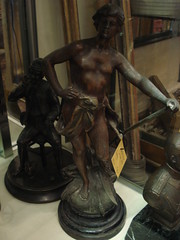 "SPELTER FIGURE, 19TH CENTURY. • <a style=""font-size:0.8em;"" href=""http://www.flickr.com/photos/51721355@N02/10613651614/"" target=""_blank"">View on Flickr</a>"