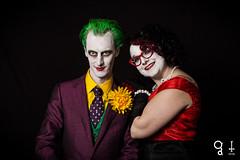 Joker & Harley Quinn (gritphilm) Tags: costumes party halloween penguin cosplay machine batman joker dccomics gotham catwoman riddler poisonivy harleyquinn monolight famdamily blackbackdrop stobes edwardenigma gritphilm gritphim cvlt japaneseoni canont4i hotlinemiami machinecvltcom