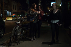 On The Town (Ranga 1) Tags: nightphotography girls night canon streetlight nocturnal candid fitzroy australian streetphotography bikes australia melbourne streetscene victoria explore suburbs girlfriends nightexposure brunswickstreet davidyoung innersuburbs innermelbourne ef24105mmf4lusm canoneos5dmarkii