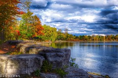 Autumn In The Park (flipkeat) Tags: autumn lake ontario fall nature water beautiful port landscape outdoors landscapes colours awesome canadian credit waterscapes