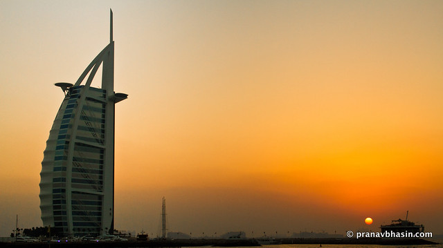 Sunset At Burj Al Arab, Dubai
