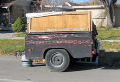 '50s Chevy Truck Bed Trailer (Eyellgeteven) Tags: old classic chevrolet trash truck vintage garbage rust gm rusty utility pickup pickuptruck dent chevy rusted 1950s ugly oxidation vehicle modified primer trailer rims load mattress dents loaded beatup beater madeinusa americanmade truckbed chev dented generalmotors oxidized fleetside flatblack 12ton generalmotorscorporation shortbed truckbedtrailer utilitytrailer eyellgeteven