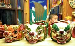 Arts and Crafts of Bhutan (pallab seth) Tags: religious artwork asia mask bhutan crafts traditional religion arts culture buddhism handicrafts artisan thimphu ritualobjects