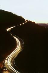ssssssedona (α RAINYNEPTUNUS ω) Tags: road autumn light sunset arizona lightpainting film analog airport sedona headlights analogphotography filmphotography