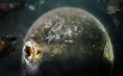 Planet-Destruction (GurshobitBrar) Tags: blue red galaxy planets newworlds