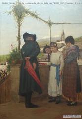 Giulio Cesare Prati la cresimanda olio su tela cm 71x101 1885 Comune di caldonazzo