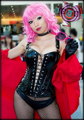 Tira Misu (Vicious Kurai) Tags: pink anime fetish costume play cosplay vinyl manga sm fishnet bdsm tiramisu pinkhair domme animeexpo femdom hunters dominatrix domina misu tira sorcerer bakuretsu sorcererhunters smcosplay kinkycosplay animeexpo2013 cosplaykink cosplaydomme