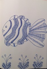 Zentangle fish (anviss) Tags: fish drawing vis tekening schets schetsboek zentangle