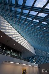 (sleepnever) Tags: seattle windows lines architecture diamonds lights shadows library shift tilt tiltshift robertwatts tse17mmf4l seattlepubliccentrallibrary