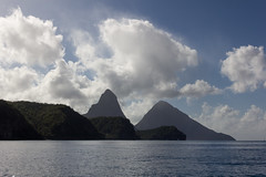IMG_0120 (jaglazier) Tags: trees mountains clouds reflections islands landscapes seascapes january carribean forests stlucia deciduoustrees 2014 soufrire saintlucia 1614 lespitons copyright2014jamesaglazier