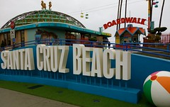 Santa Cruz Boardwalk (1Flatworld) Tags: usa santacruz beach rain day cloudy sony boardwalk rx100