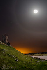 Dunstanburgh Castle Moon Halo (solidtext) Tags: