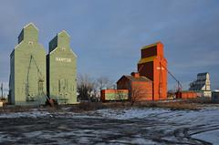 Nanton Elevators (Bracus Triticum) Tags: canada building alberta elevators カナダ nanton アルバータ州