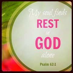 This is where rest is found... #psalm62:1
