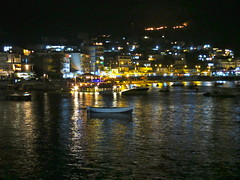 Himare by night (met bosbrand)