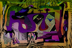 Les Oiseaux sont les Majors de l'histoire (Feb 2014) (Ian Clegg Walsh) Tags: street original sculpture abstract art face animals modern illustration hub photomanipulation photoshop painting underpass poster ian four photography sketch photo paint gallery photographer grafitti motorway artgallery drawing contemporary unique quality surrealism digitalart arts creative dream shapes like surreal objects lovers textures digitalpainting artists figure animation layers neo unusual crow amusing title naive tones sculptural figures wacom corvid bizarre figurative whimsical walsh individual primitive useful cic clegg mirfield artsblog artsed artinfo creativeartshub iancleggwalsh
