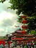 Sampokong (Rathcomes) Tags: china red holiday indonesia object semarang sejarah lampion merah wisata imlek klenteng bangunan sampokong ramai