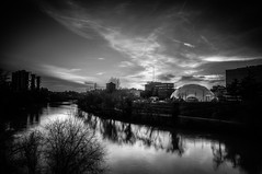 Atardeceres Mgicos (B&W) (Ivan_Fle) Tags: street city sky bw espaa clouds river spain europe sony ciudad valladolid blinkagain