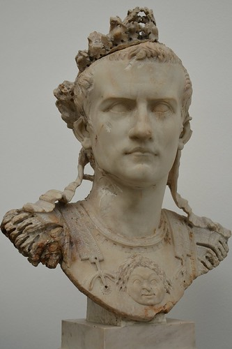 Cuirassed bust of Caligula, found in Rome, AD 37-41, Ny Carlsberg Glyp