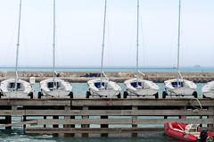 Set Sail. (Cedric Santarromana) Tags: blue lake chicago beach water sailboat boats march boat spring nikon sailing michigan lakemichigan