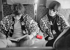 Ringo and John on Train with Larks (kevinwgarrett) Tags: cigarette smoking pack beatles cigarettes johnlennon ringo tobacco lark larkiology
