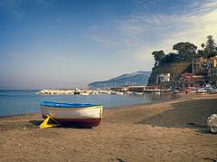 Marina di Sorrento (Pino Finizio) Tags: travel sea sky panorama tourism beach water clouds landscape boat town nuvole mare barche cielo sorrento acqua turismo viaggio spiaggia citt arenile ilobsterit