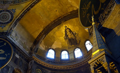 View of apse past minbar, Hagia Sophia
