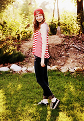 (Mary Jo.) Tags: light red summer portrait smile grass hat canon rebel 50mm stripes mj cap converse xs f18 maryjo goldenhour cardinals