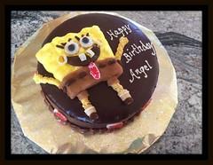 SpongeBob SquarePants cake by Kathy, Santa Cruz,CA, www. birthdaycakes4free.com