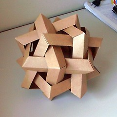 Six Intersecting Squares (orig4mi.) Tags: paper origami fold