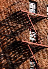 Shadows and Edges (arnabjosephite) Tags: newyorkcity light usa newyork building stairs lights shadows unitedstates staircase fireescape