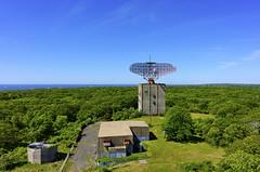 Montauk Radar Tower II (NestorDesigns) Tags: trees kite newyork grass landscape photography nikon kites longisland kap montauk kiteaerialphotography rigs picavet brooxes fled nestordesigns nikoncoolpixa nestorriverajr montaukradartower
