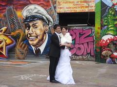 Fire Marshall Wedding (Slip Mahoney) Tags: new york people newyorkcity manhattan famous ticktock mrg 5 pointz grafitti wedding