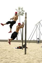 DSC_5156 (Trevor Mott) Tags: california muscle beach stone venice sand weight lift lifting red