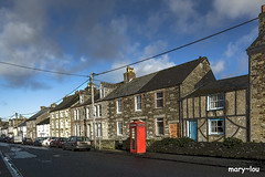 A Very English Village (mary~lou) Tags: stcolumbmajorcornwall street englishvillage englishstreet redphonebox terracedhouses wires cornishvillage