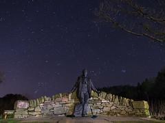Tom Weir Statue - Balmaha (dalejckelly) Tags: balmaha tomweir canon 7dmarkii night nightsky astrophotography astronomy astro milkyway lochlomond visitscotland scotland scottish scenery scenic landscape stars milarrochybay trossachs outdoor winter tamweir